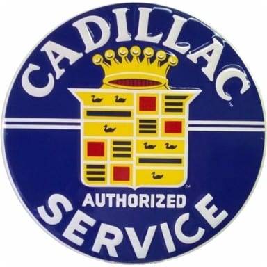 Cadillac Authorized Service Sign