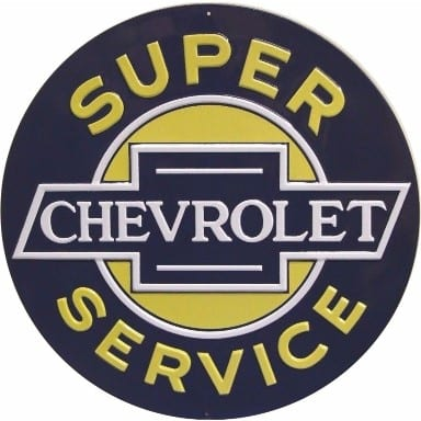 Chevrolet Merchandise - Super Service Sign