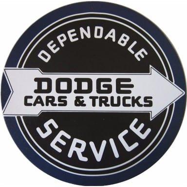 Dodge Service Circle Sign