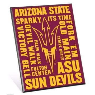ASU Sun Devils Easel Sign