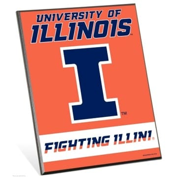 Illinois Fighting Illini Easel Sign