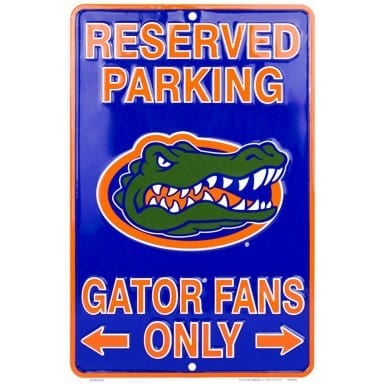 Florida Gators Reserved Parking Sign