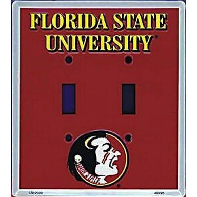 Florida State Seminoles Double Switch Cover