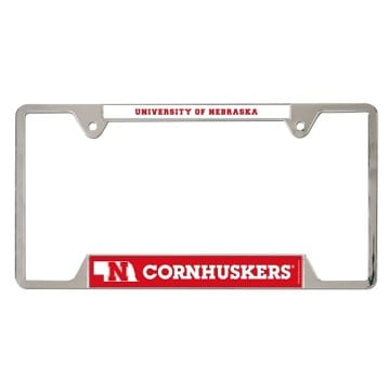 Nebraska Cornhuskers Heavy Duty Metal License Plate Frame