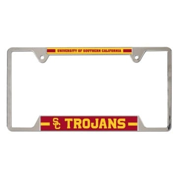 USC Trojans Metal License Plate Frame