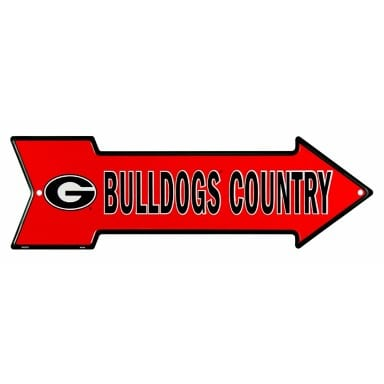 Georgia Bulldogs Arrow Sign
