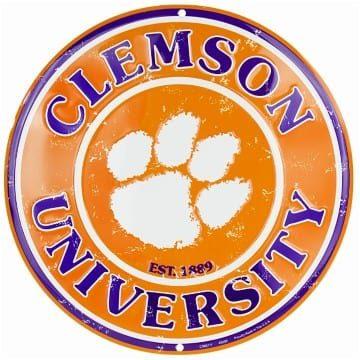 Clemson Tigers Merchandise - Circle Sign