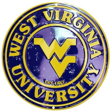 WVU Mountaineers Circle Sign