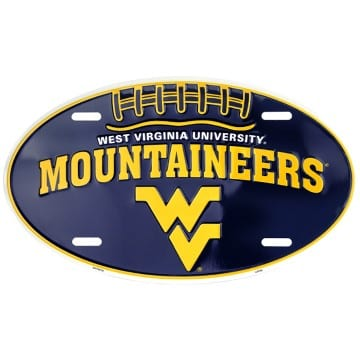 WVU Mountaineers Oval License Plate