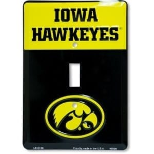 Iowa Hawkeyes Merchandise - Light Switch Cover