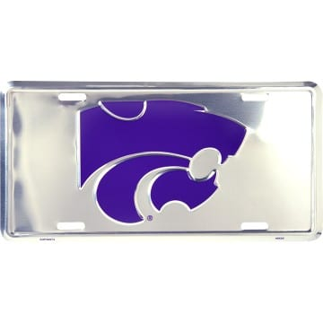 Kansas State Wildcats Chrome License Plate