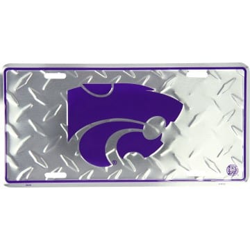 Kansas State Wildcats Diamond License Plate