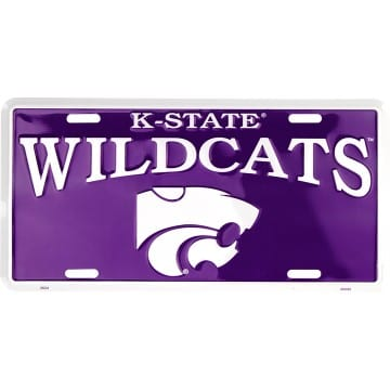 Kansas State Wildcats Merchandise - Purple License Plate