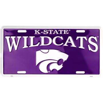 Kansas State Wildcats Merchandise - Purple License Plate