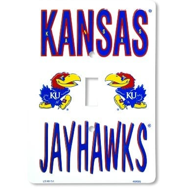 Kansas Jayhawks Merchandise - Light Switch Cover
