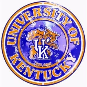 Kentucky Wildcats Circle Sign