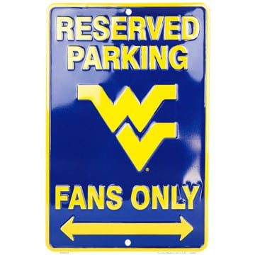 West Virginia Mountaineers Merchandise - Parking Sign