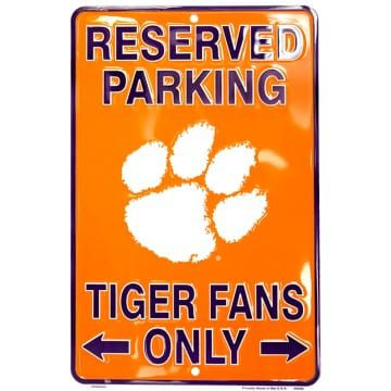 Clemson Tigers Merchandise - Reserved Parking Sign