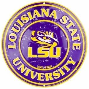 LSU Tigers Merchandise - Circle Sign