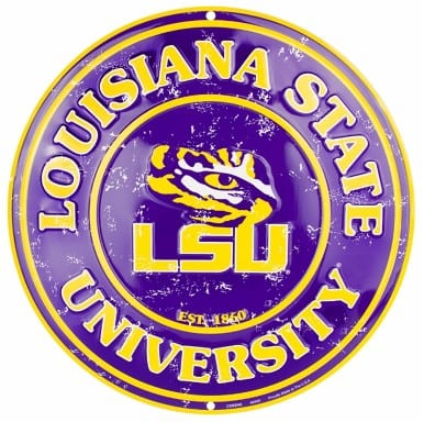 LSU Tigers Merchandise - Circle Sign