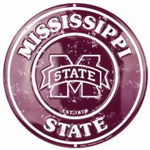 Mississippi State Bulldogs Circle Sign