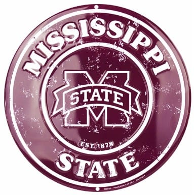 Mississippi State Bulldogs Merchandise - Circle Sign
