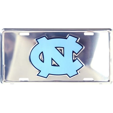 North Carolina Tar Heels Merchandise - Chrome License Plate