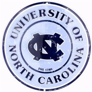 North Carolina Tar Heels Merchandise - Circle Sign
