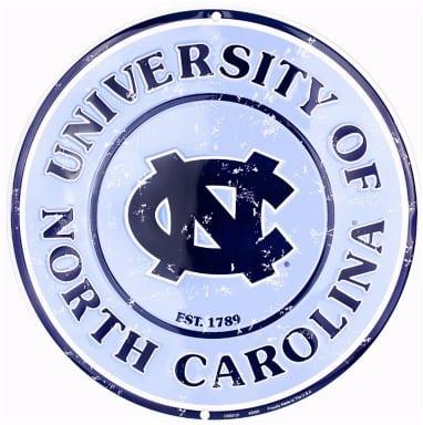 North Carolina Tar Heels Merchandise - Circle Sign