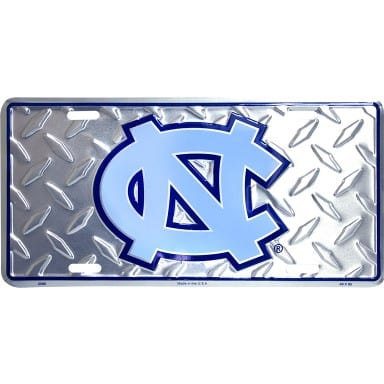 North Carolina Tar Heels Diamond License Plate