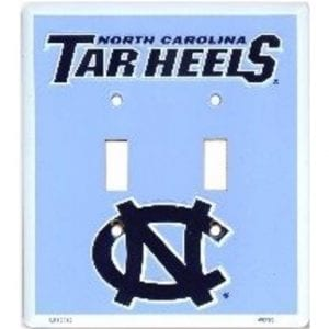 North Carolina Tar Heels Double Switch Cover