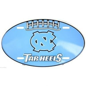 North Carolina Tar Heels Oval License Plate