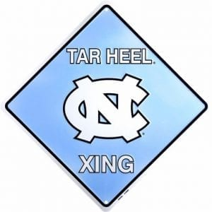 North Carolina Tar Heels Crossing Sign