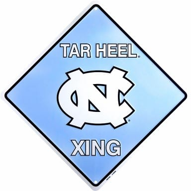 North Carolina Tar Heels Merchandise - Crossing Sign