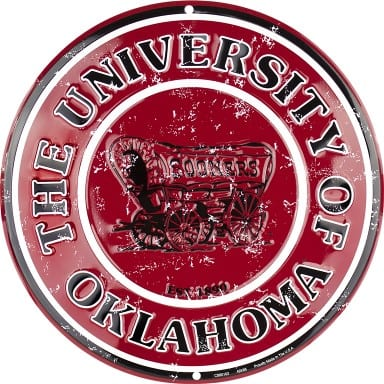 Oklahoma Sooners Merchandise - Circle Sign