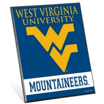 WVU Mountaineers Wood Easel Sign