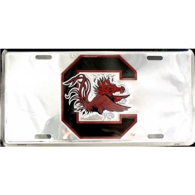 South Carolina Gamecocks Merchandise - Chrome License Plate