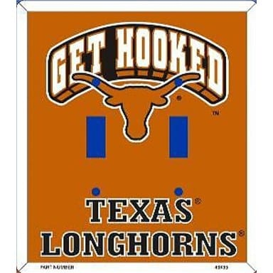 Texas Longhorns Merchandise - Double Light Switch Cover