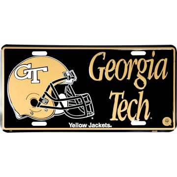 Georgia Tech Yellow Jackets Merchandise - Metal License Plate