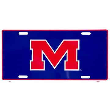 Auto Tag - Ole Miss Rebels Blue