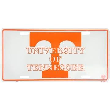 Tennessee Volunteers Big Orange Embossed Metal License Plate