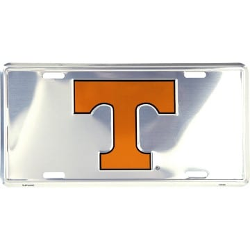 Tennessee Volunteers Merchandise - Chrome License Plate