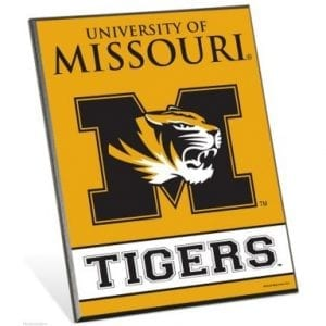 Missouri Tigers Easel Sign