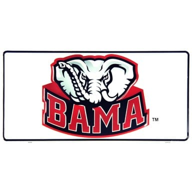 Alabama Crimson Tide Merchandise - BAMA License Plate