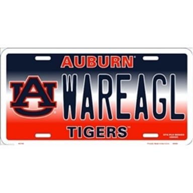 Auburn Tigers Merchandise - WAREAGL License Plate