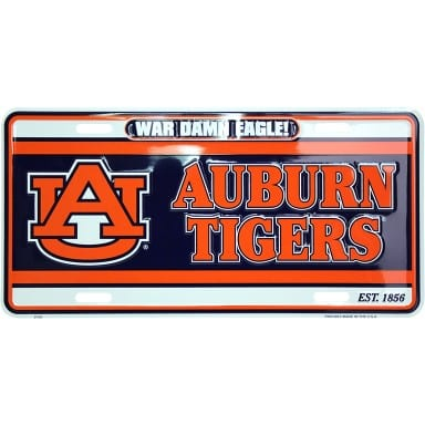 Auburn Tigers Merchandise - War Damn Eagle License Plate