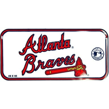 Atlanta Braves Bike License Plate