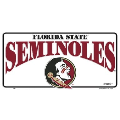 Florida State Seminoles Merchandise - White License Plate