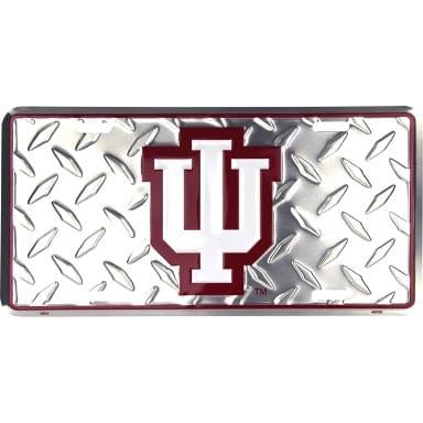 Indiana Hoosiers Diamond Plate Auto Tag