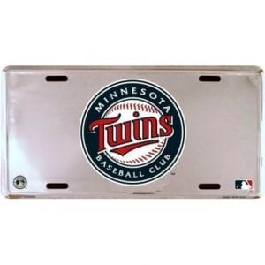 Minnesota Twins Chrome License Plate
